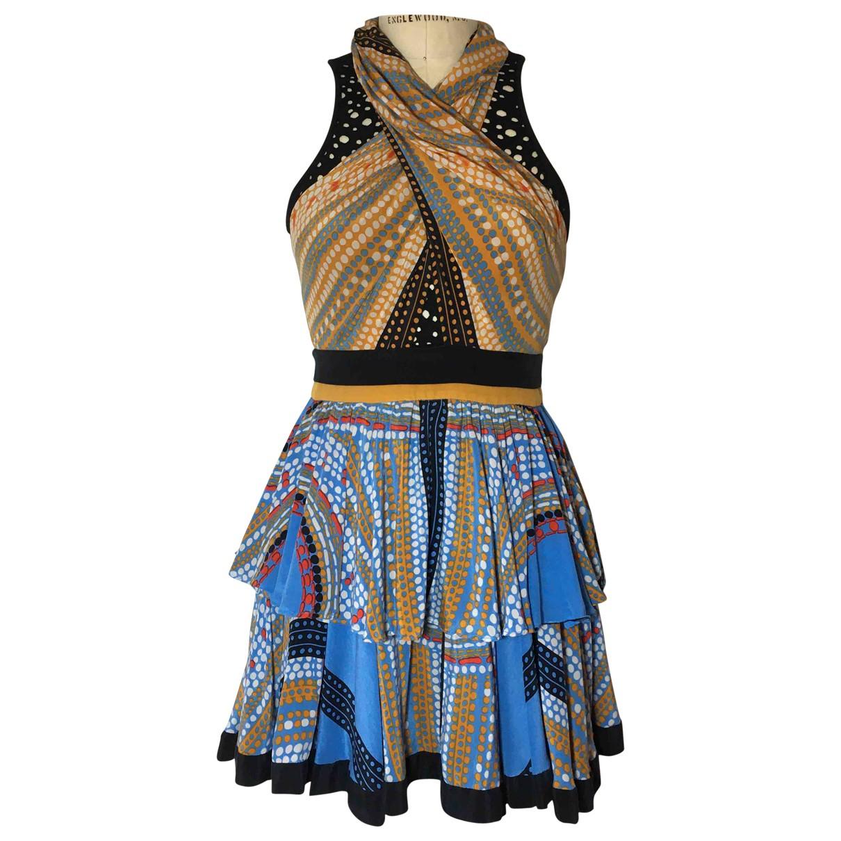 Jorya - Robe   pour femme en soie - multicolore