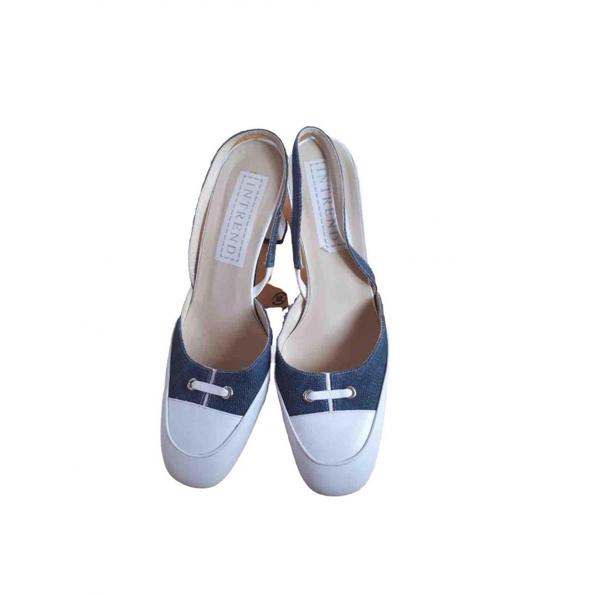 Intrend \N White Leather Heels for Women 40 EU