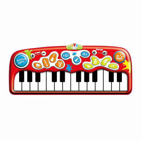 Winfun Step-To-Play Jumbo Piano Mat, One Size , Red