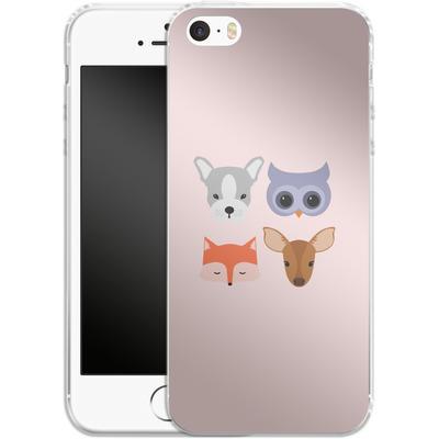 Apple iPhone 5 Silikon Handyhuelle - Animal Friends on Pink von caseable Designs