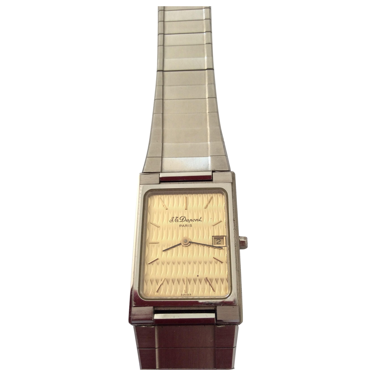 S.t. Dupont \N Silver gold and steel watch for Men \N