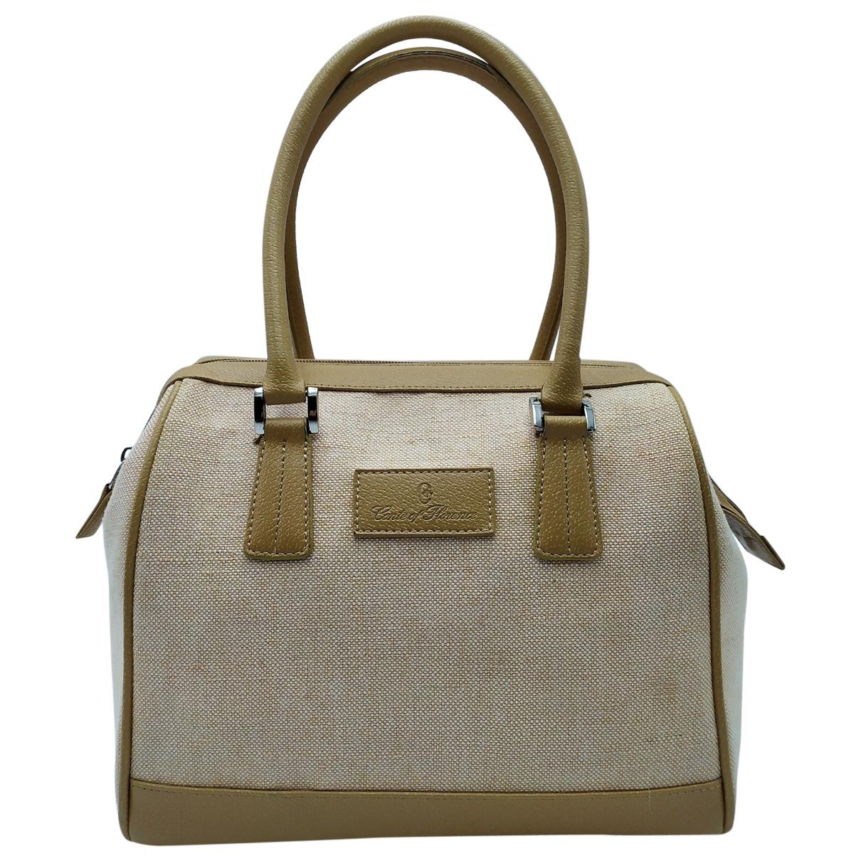 Non Signe / Unsigned \N Handtasche in  Beige Leinen