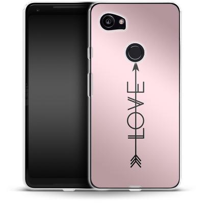 Google Pixel 2 XL Silikon Handyhuelle - Love Arrow von Emanuela Carratoni