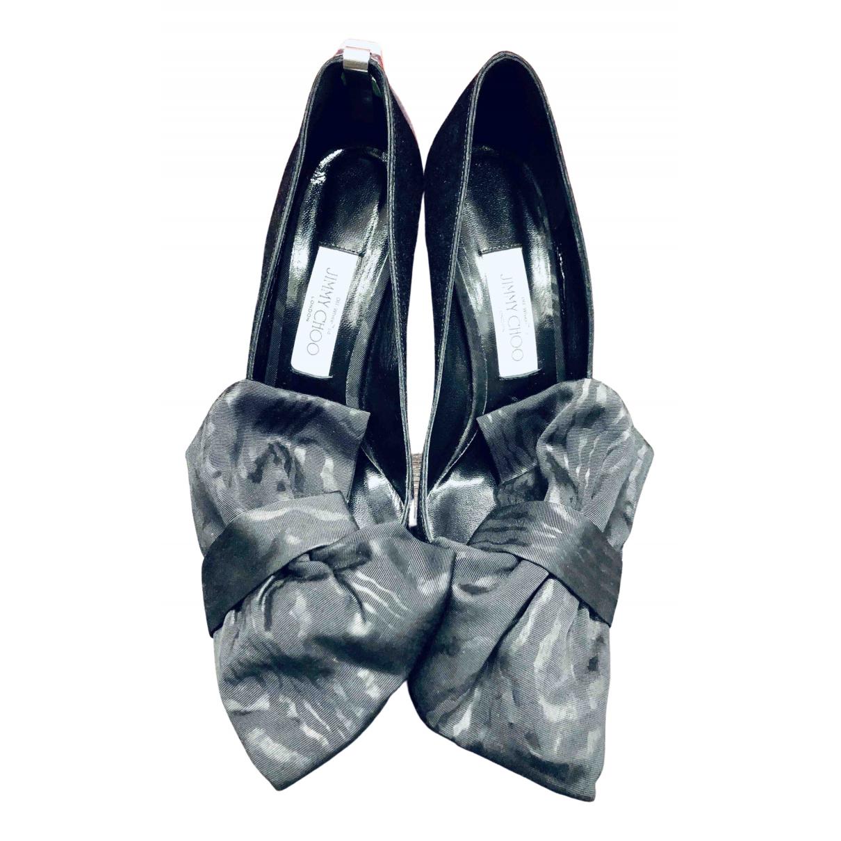 Jimmy Choo X Off-white N Black Cloth Heels for Women 40 EU