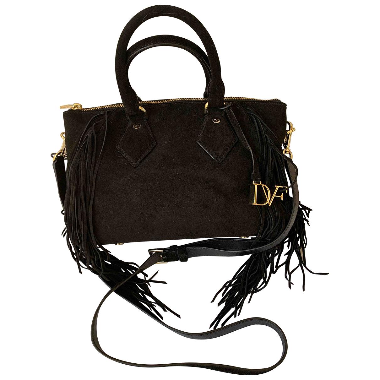 Diane Von Furstenberg \N Handtasche in  Schwarz Veloursleder