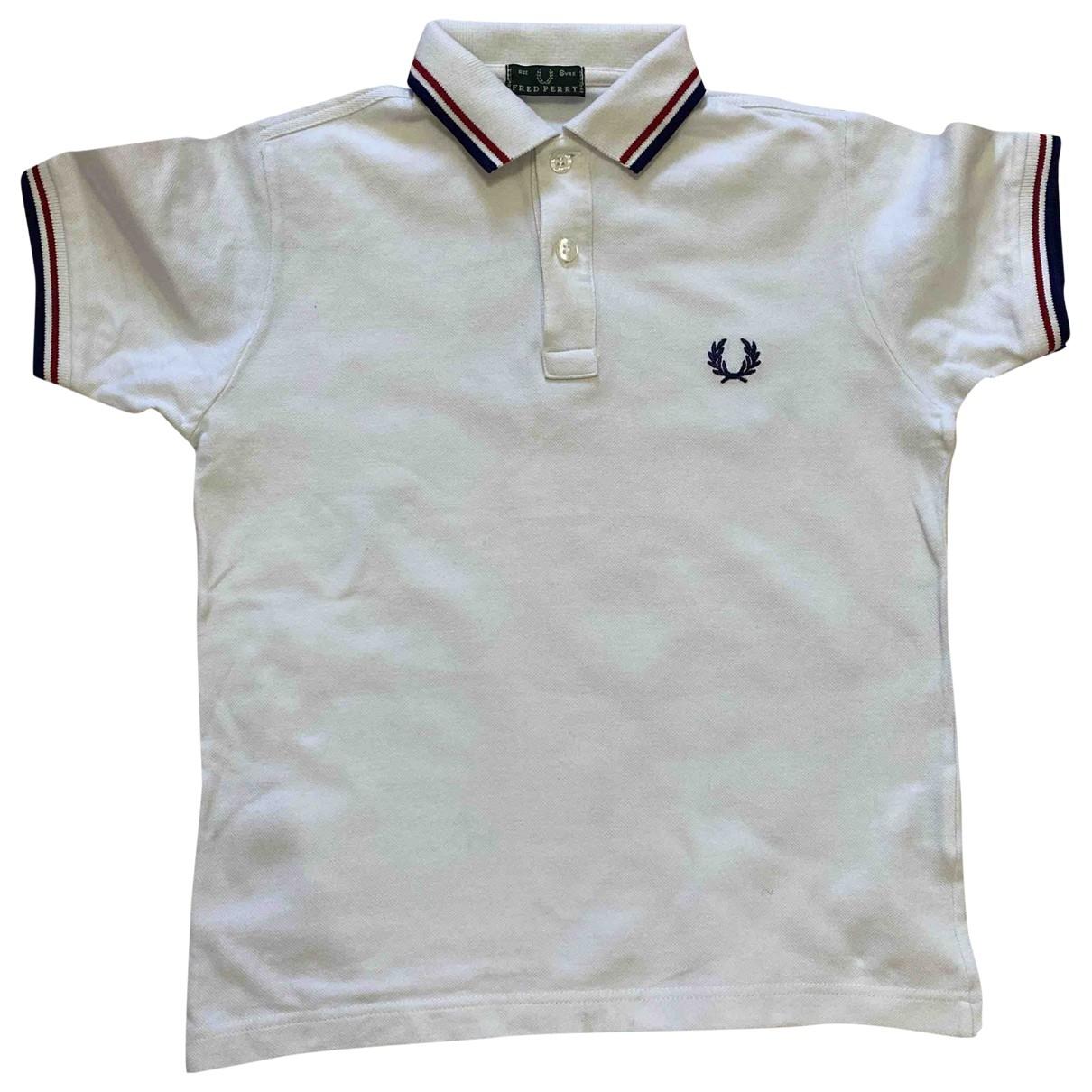 Fred Perry - Pull   pour enfant en coton - blanc