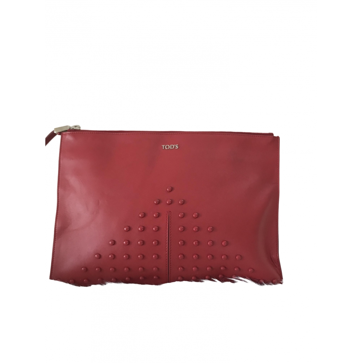 Tod's \N Red Leather Clutch bag for Women \N