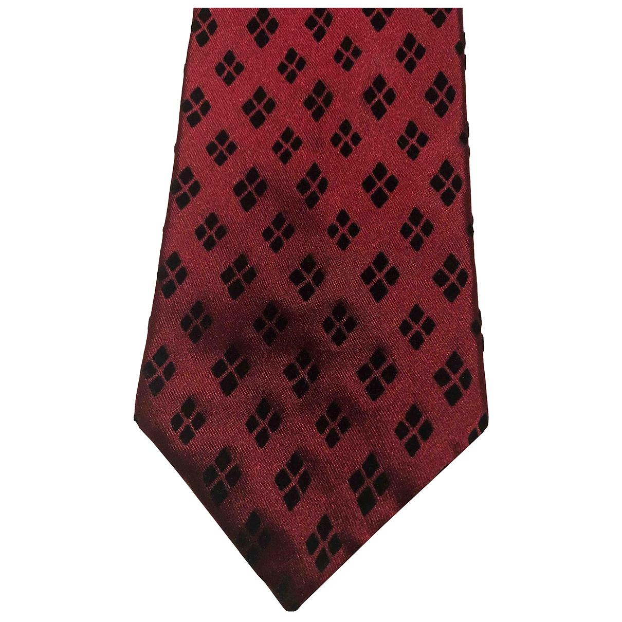 Romeo Gigli \N Krawatten in  Bordeauxrot Seide