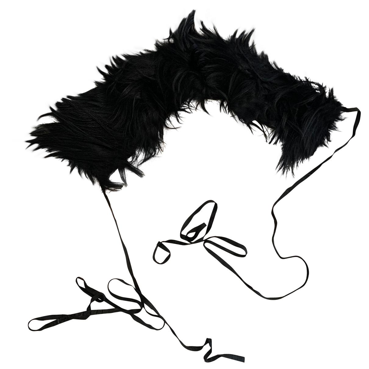 Ann Demeulemeester \N Black Fur scarf for Women \N