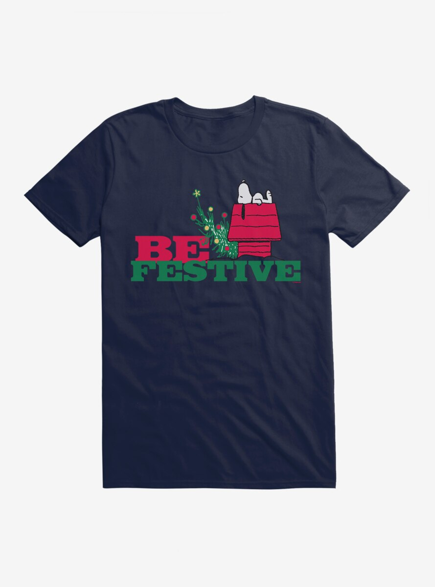 Peanuts Christmas Snoopy Be Festive T-Shirt