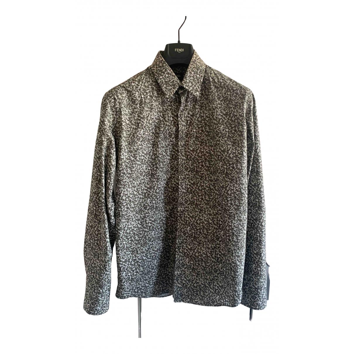 Fendi - Chemises   pour homme en coton - gris