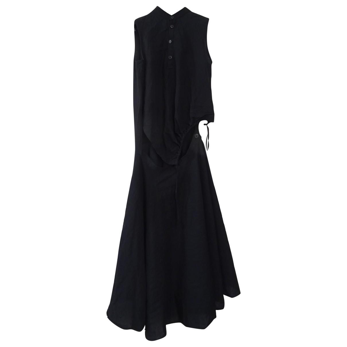 Ys \N Kleid in  Schwarz Leinen