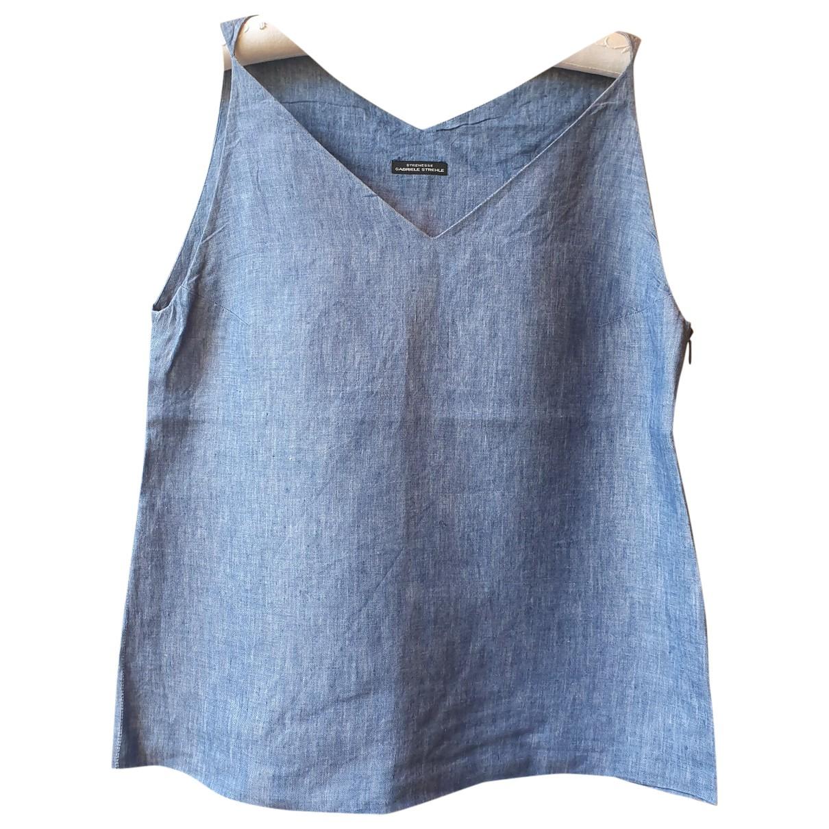 Strenesse \N Blue Linen  top for Women 40 FR