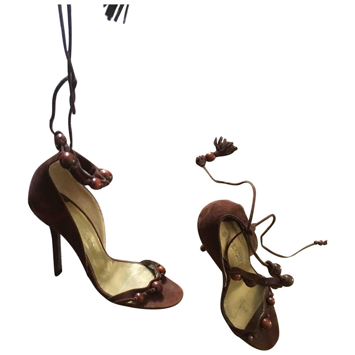 Givenchy - Sandales   pour femme en suede - marron