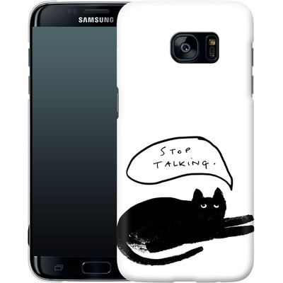 Samsung Galaxy S7 Edge Smartphone Huelle - Stop Talking von caseable Designs