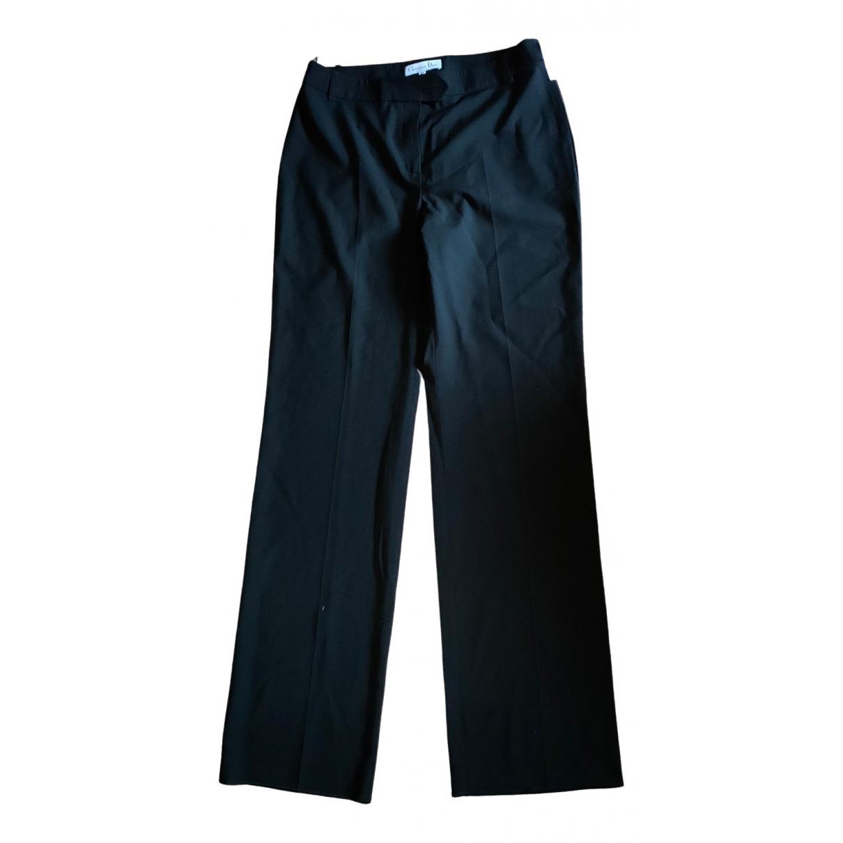 Dior \N Black Wool Trousers for Women 42 FR