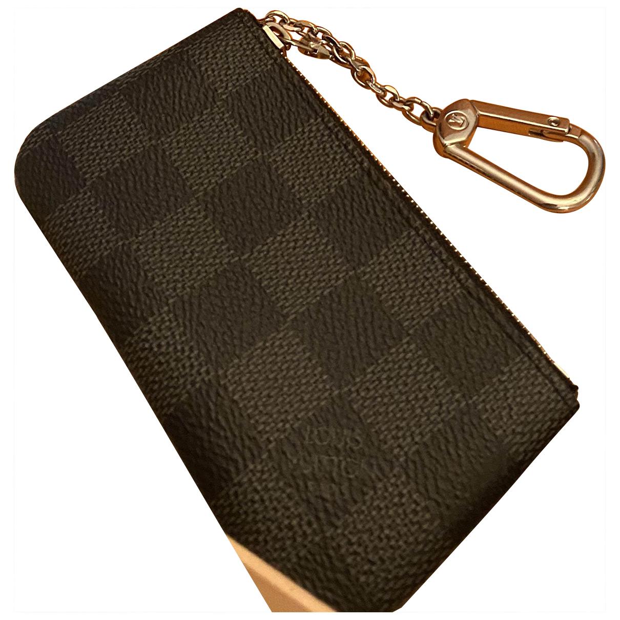 Louis Vuitton - Petite maroquinerie Key Pouch pour homme en toile - anthracite