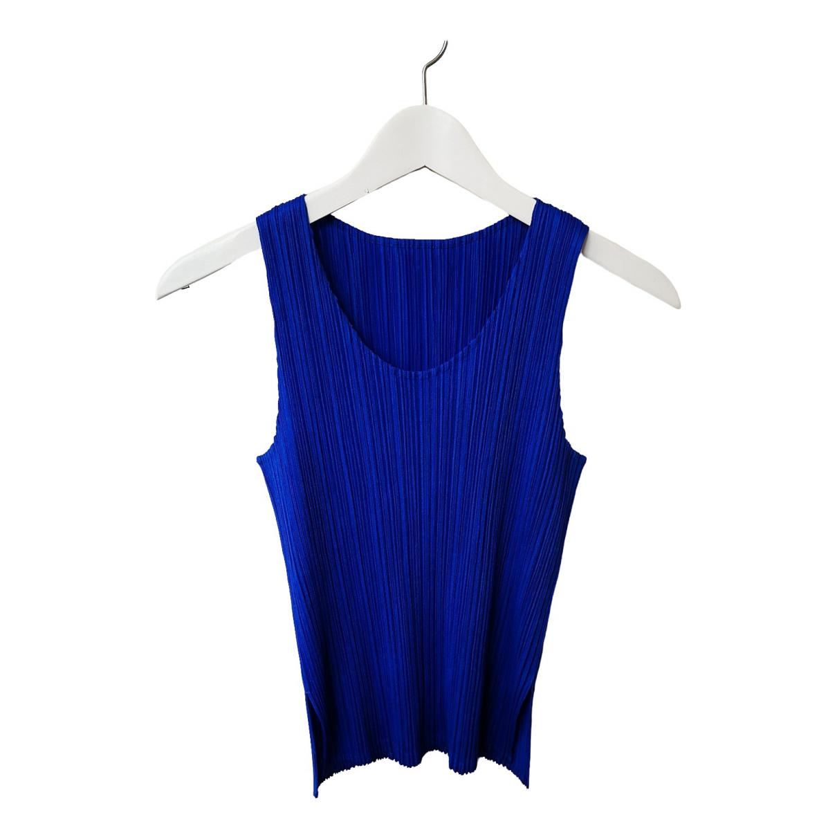 Issey Miyake - Top   pour femme - bleu