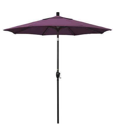 GSPT758117-57002 7.5' Pacific Trail Series Patio Umbrella With Bronze Aluminum Pole Aluminum Ribs Push Button Tilt Crank Lift With Sunbrella 2A Iris