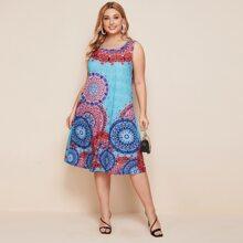 Tank Kleid mit aztekischem Muster