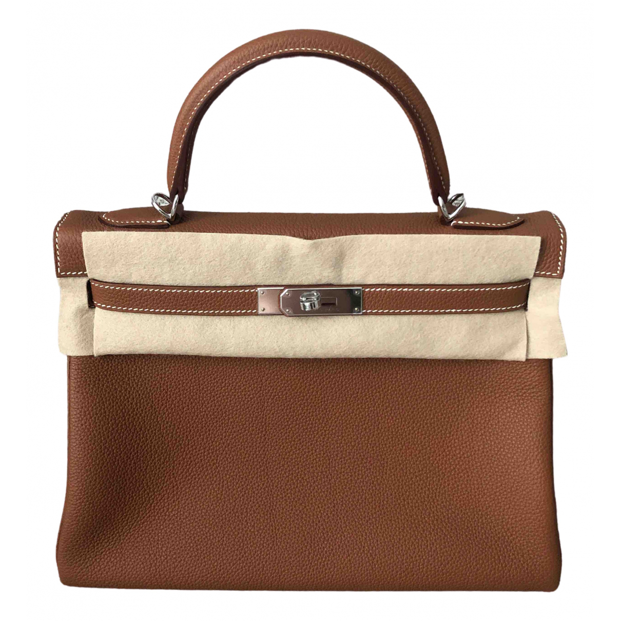 Hermès Kelly 32 Gold Leather handbag for Women \N