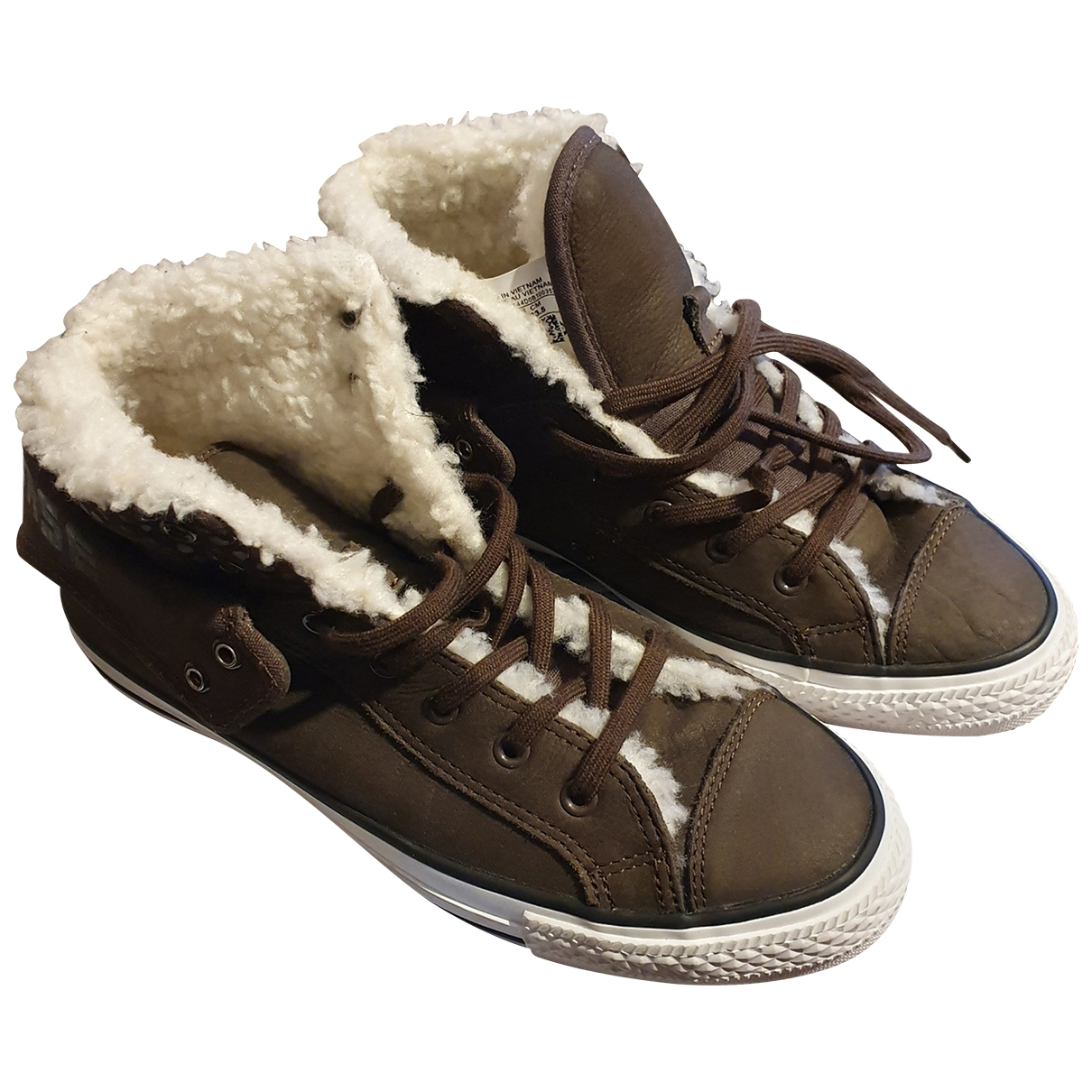 Converse \N Brown Leather Trainers for Women 37 EU