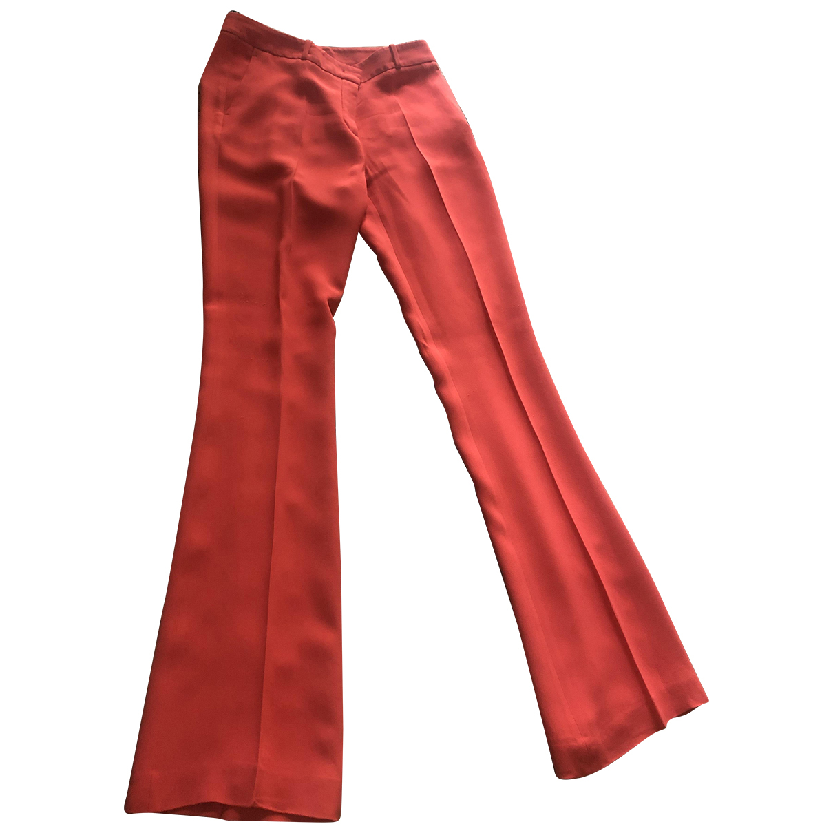 Non Signé / Unsigned \N Orange Trousers for Women 42 IT
