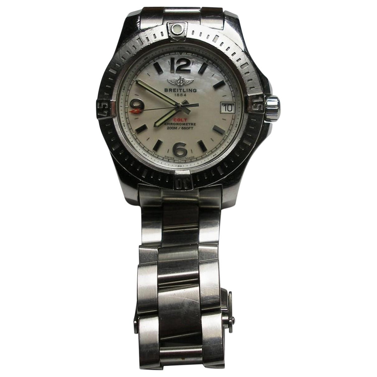 Breitling Colt  Uhr in  Ecru Stahl