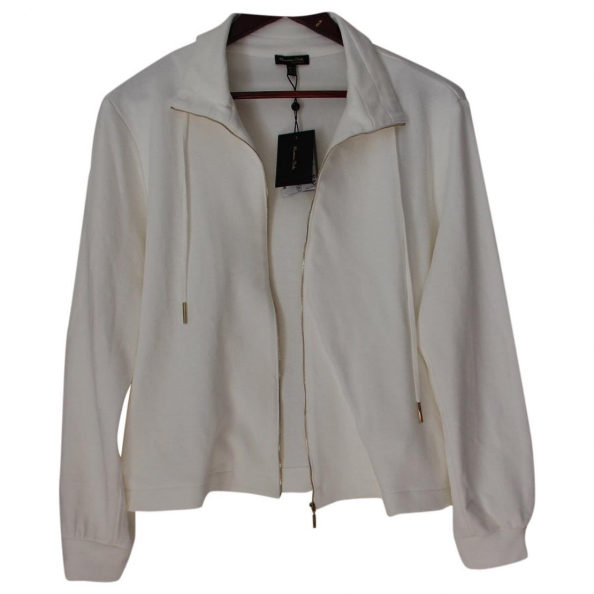 Massimo Dutti \N White Cotton jacket for Women M International