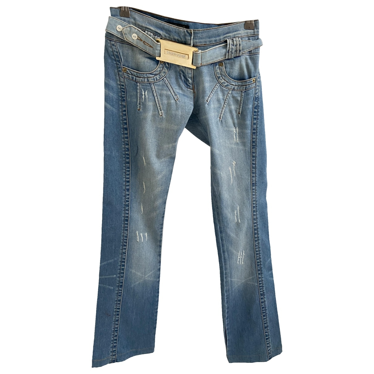 Roberto Cavalli \N Blue Denim - Jeans Trousers for Women 40 IT