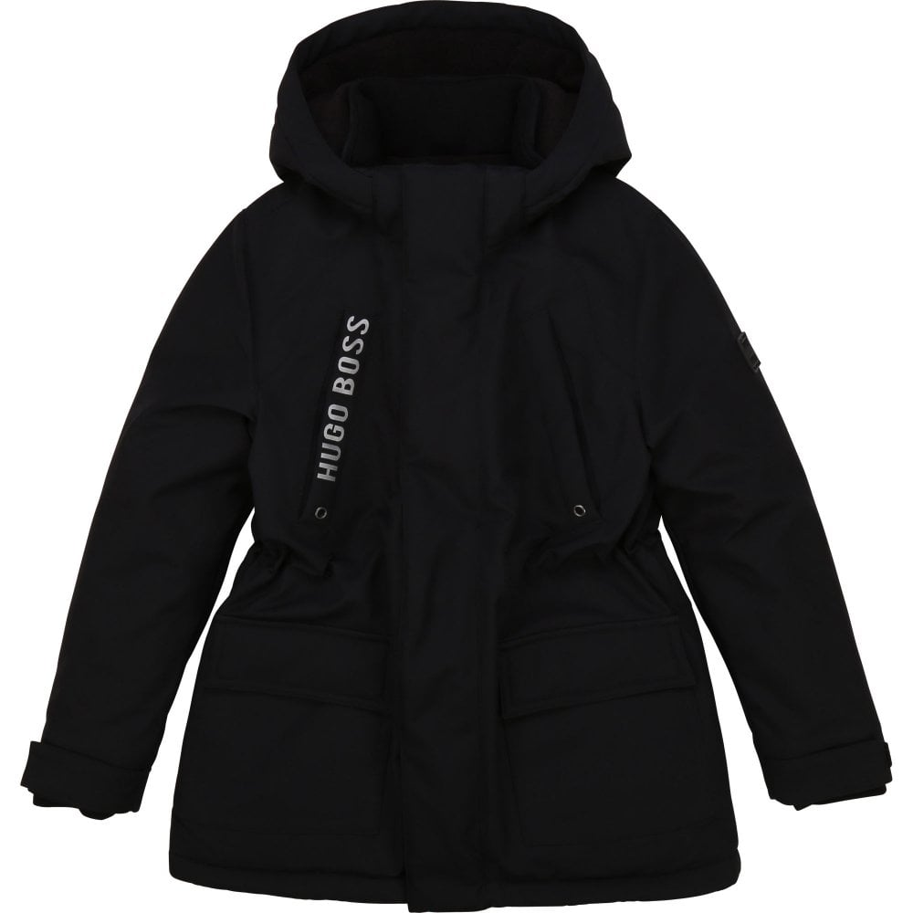 Hugo Boss Parka Jacket Colour: BLACK, Size: 12 YEARS