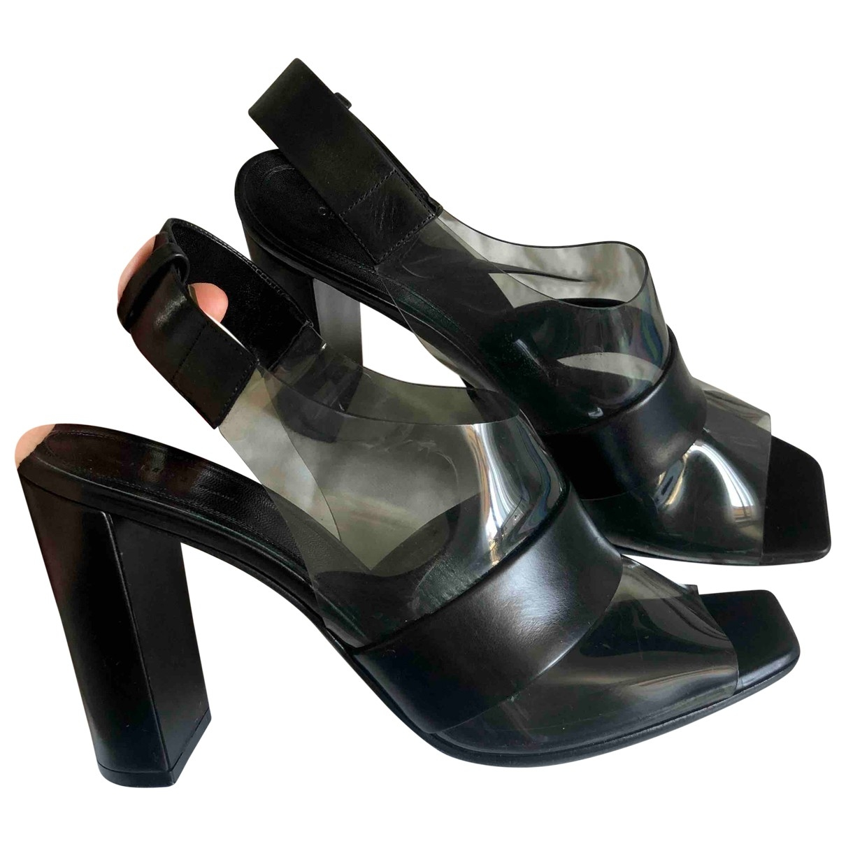 Celine \N Black Sandals for Women 38.5 EU