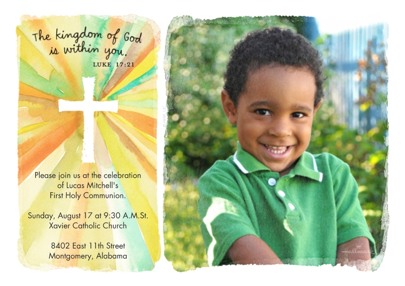 Communion 5x7 Cards, Premium Cardstock 120lb with Rounded Corners, Card & Stationery -Watercolor Cross
