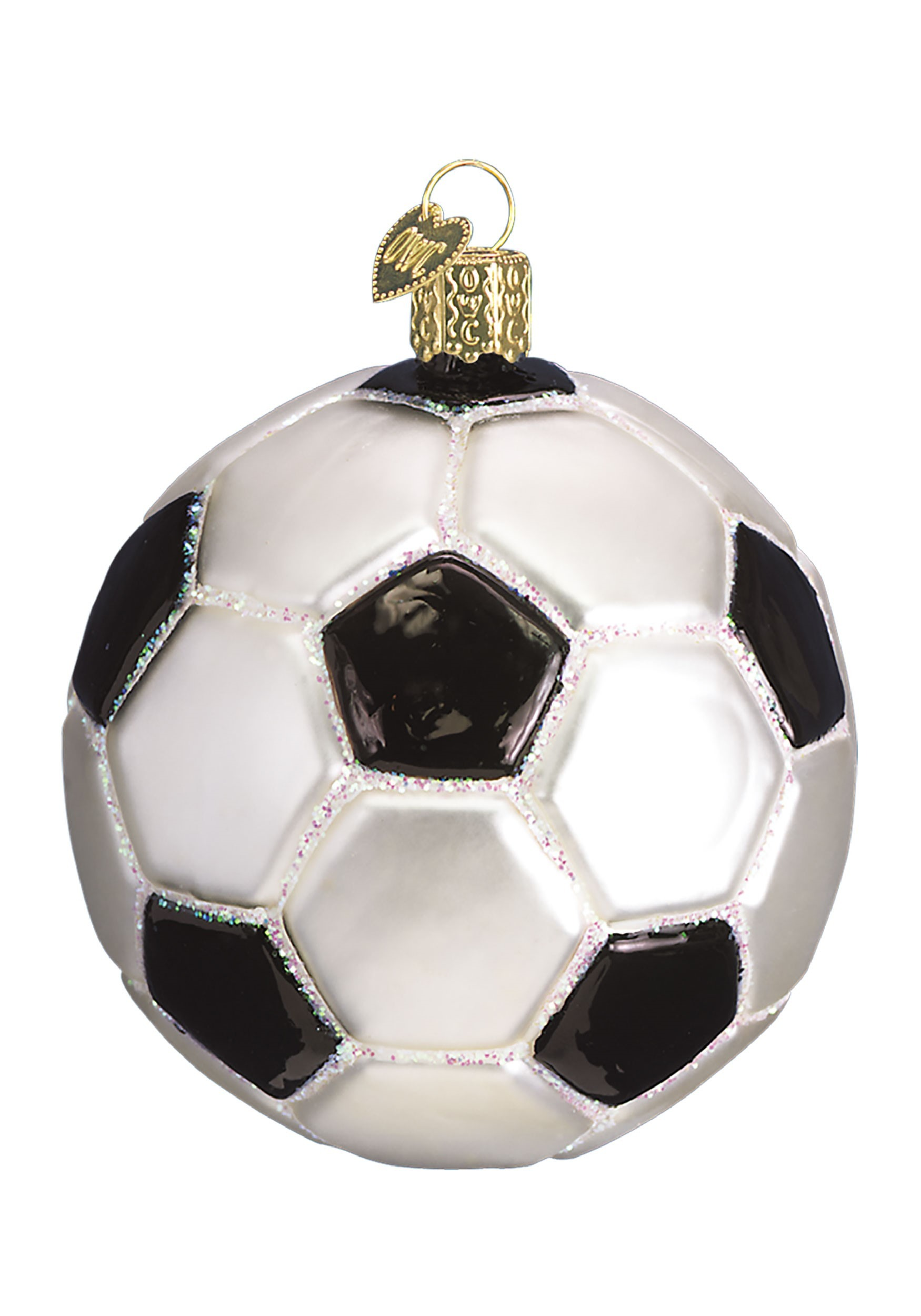Glass Blown Soccer Ball Ornament