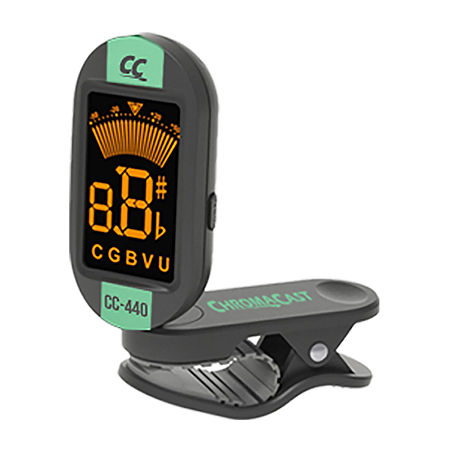 ChromaCast CC-440 Series Clip-On Chromatic Tuner, One Size , Green