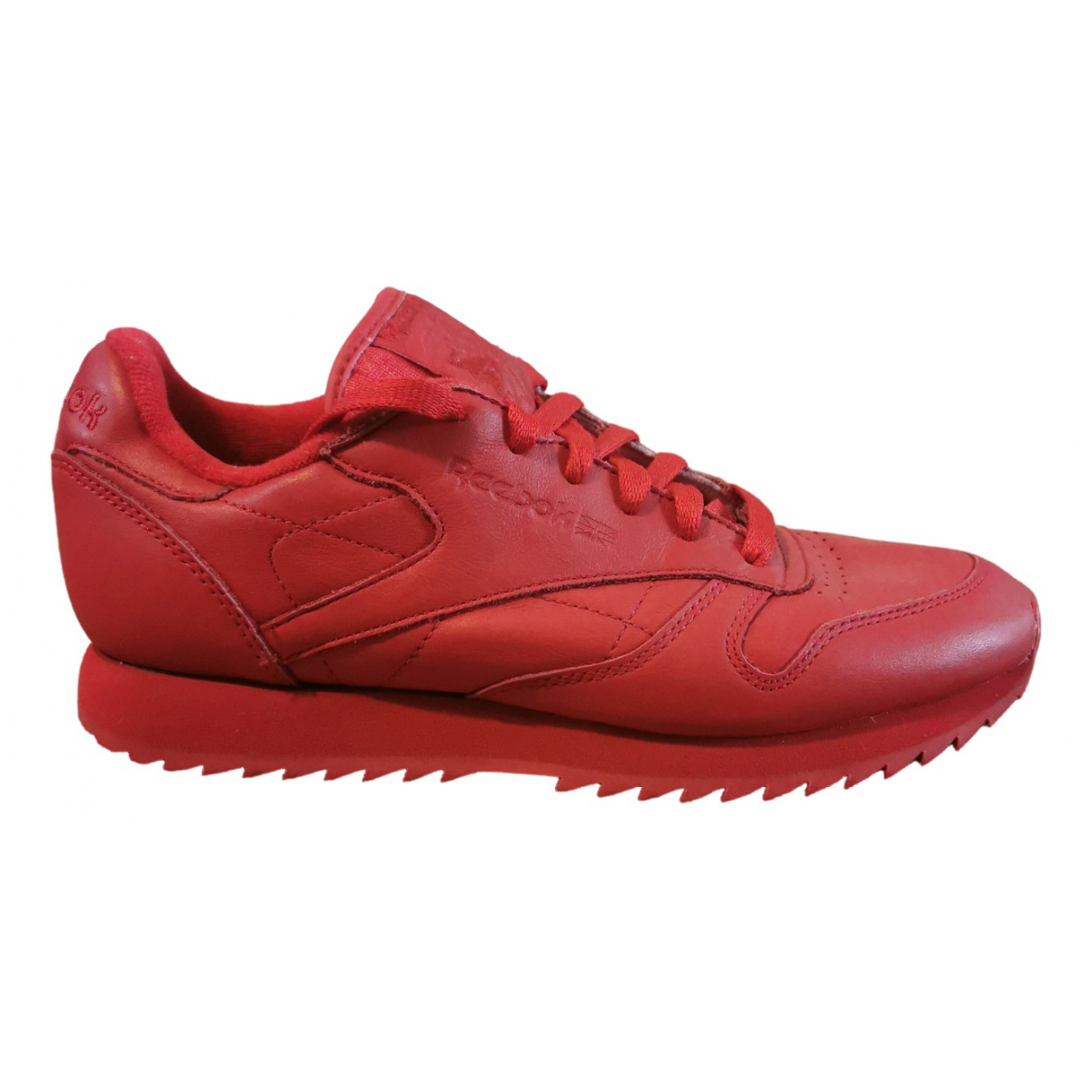 Reebok N Red Leather Trainers for Women 37.5 EU