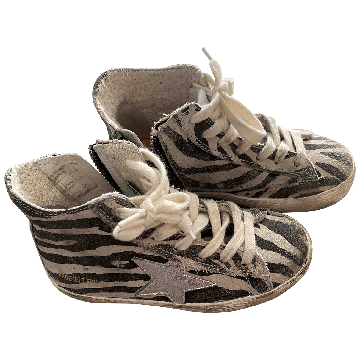 Golden Goose - Baskets Superstar pour enfant en cuir - gris