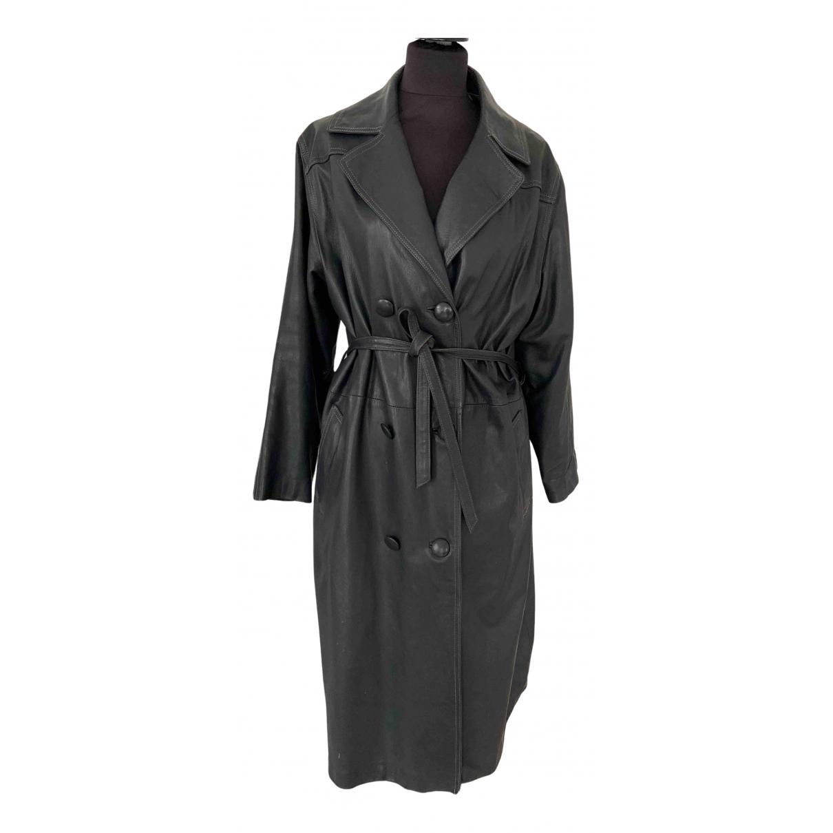 - Manteau Hippie Chic pour femme en cuir - anthracite