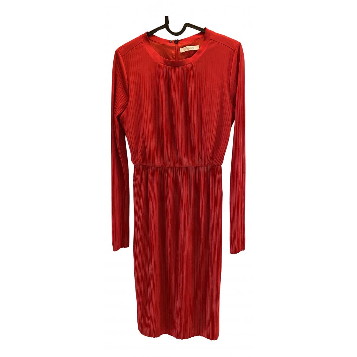 Max Mara \N Kleid in  Rot Viskose