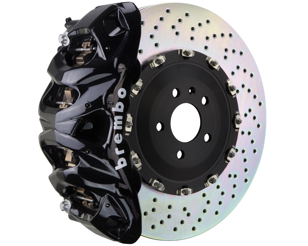 Brembo GT 412x38 2-Piece 8 Piston Black Drilled Front Big Brake Kit