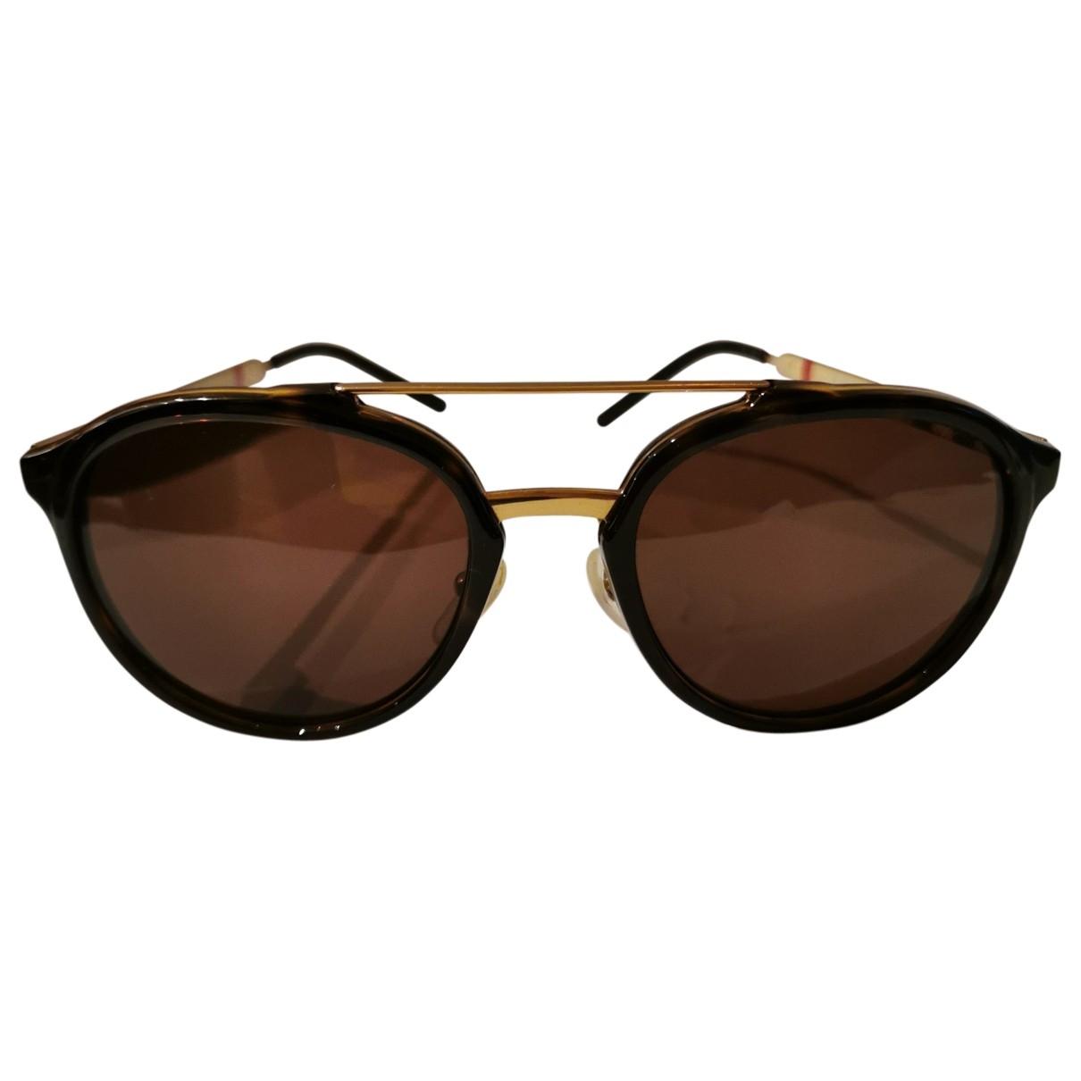 Burberry \N Brown Metal Sunglasses for Men \N