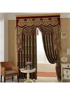 Classic Thick Chenille Blackout Window Curtains for Living Room Bedroom