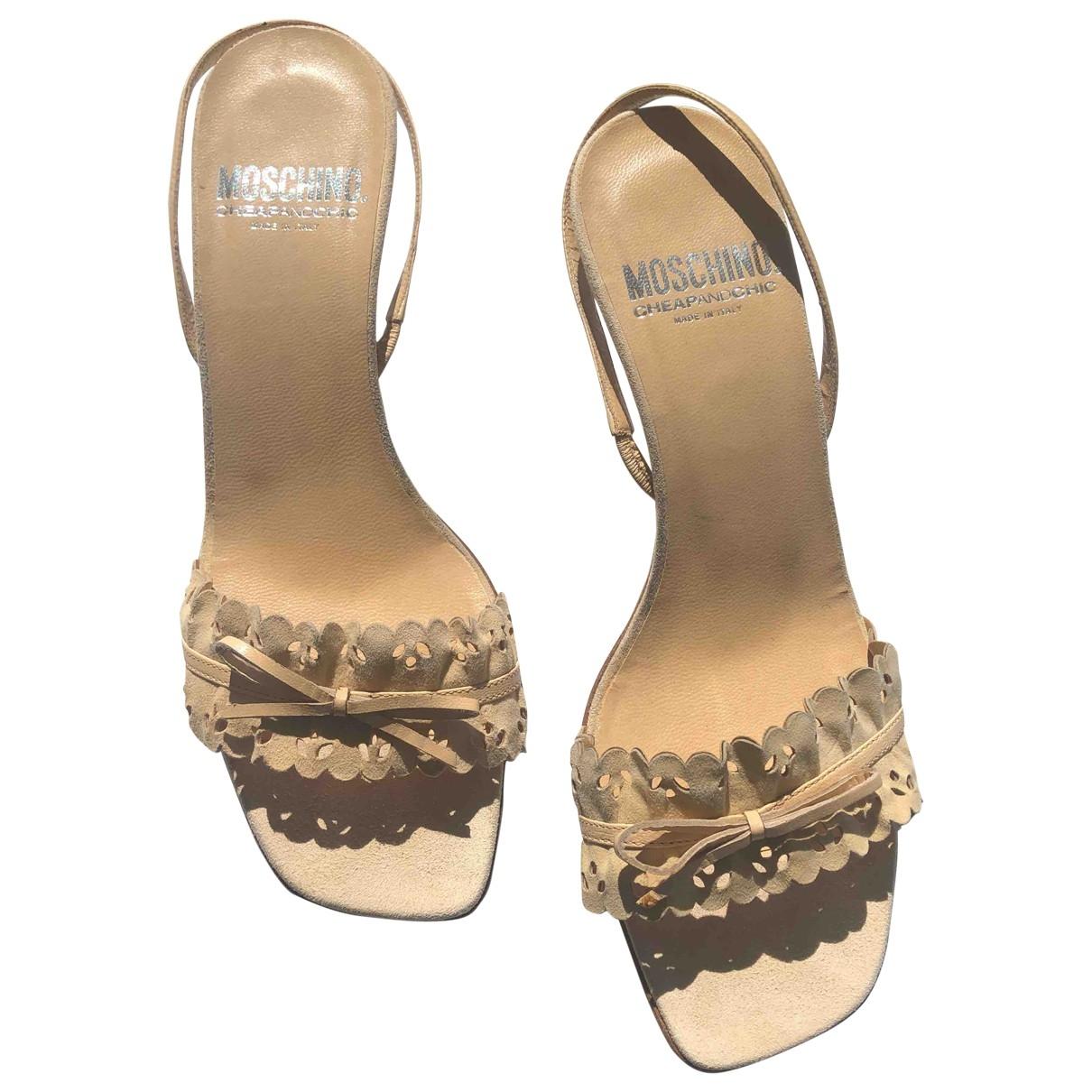 Moschino \N Sandalen in  Beige Leder