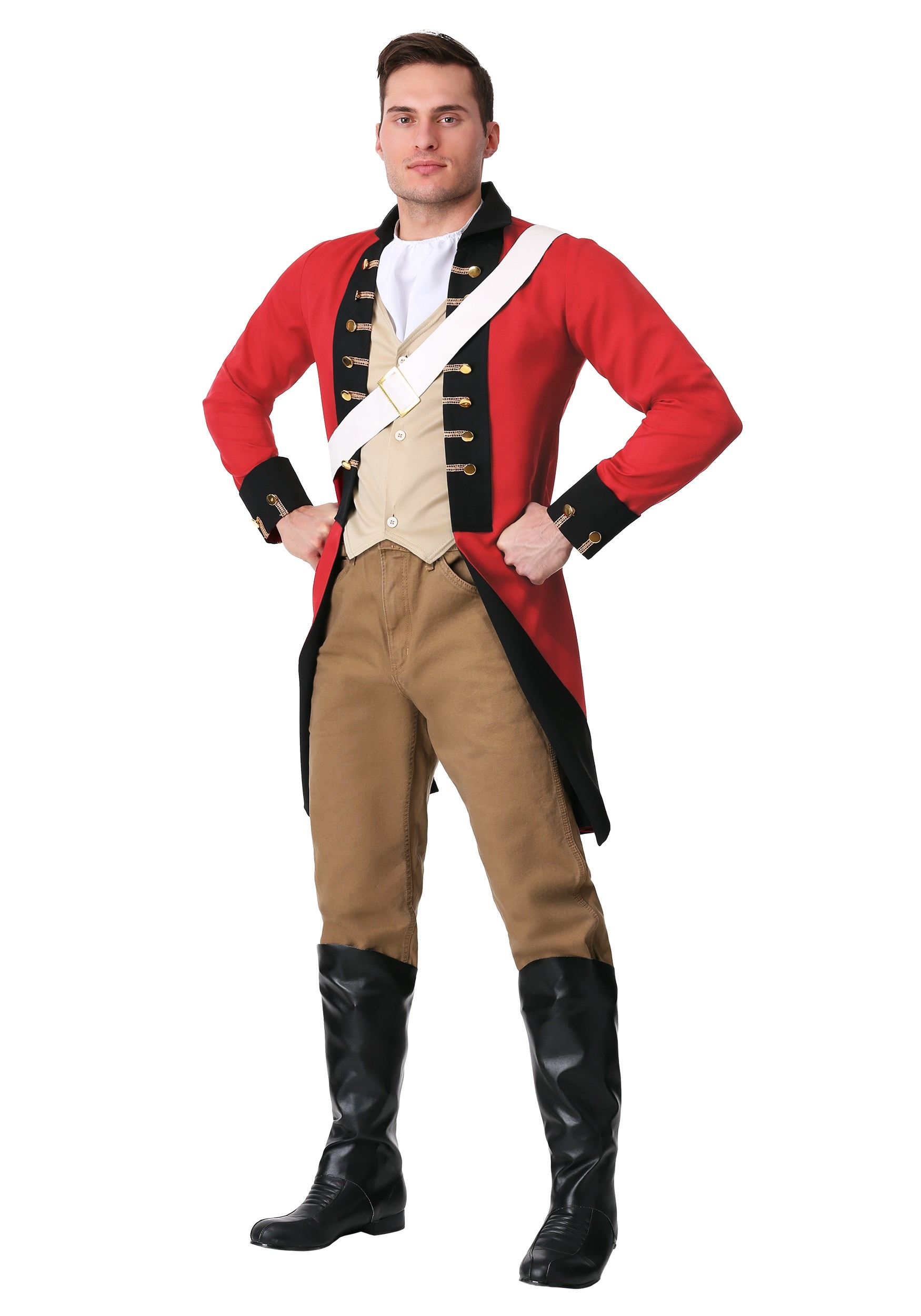 British Red Coat Plus Size Costume for Adults