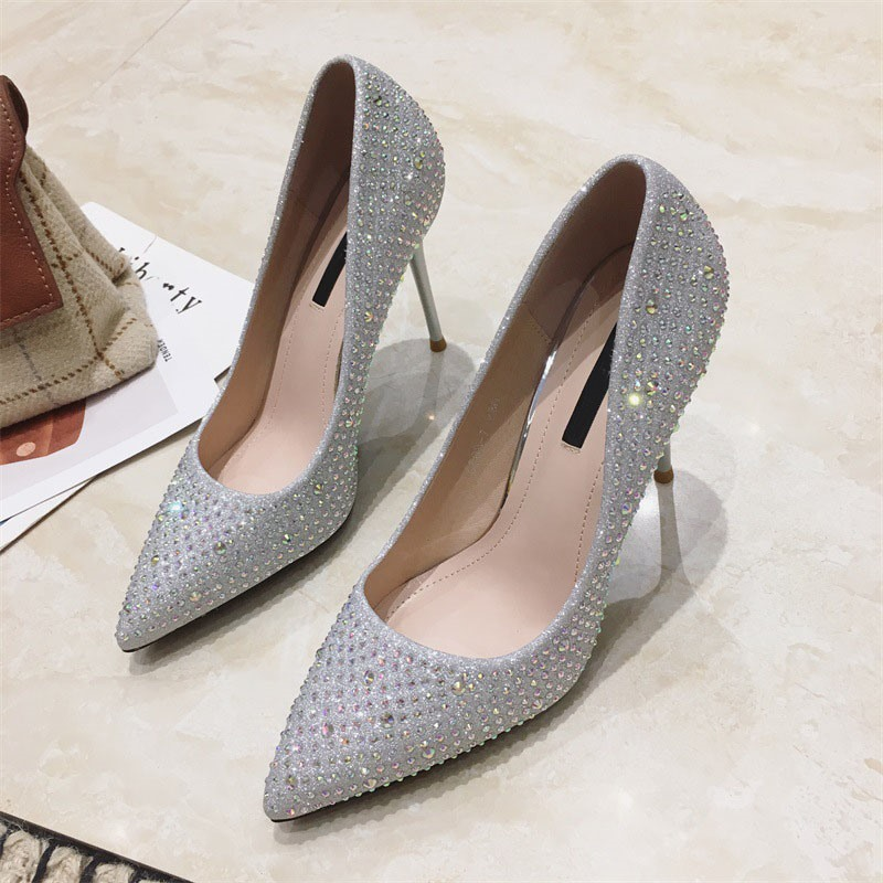 Ericdress Slip-On Pointed Toe Stiletto Heel Prom Shoes