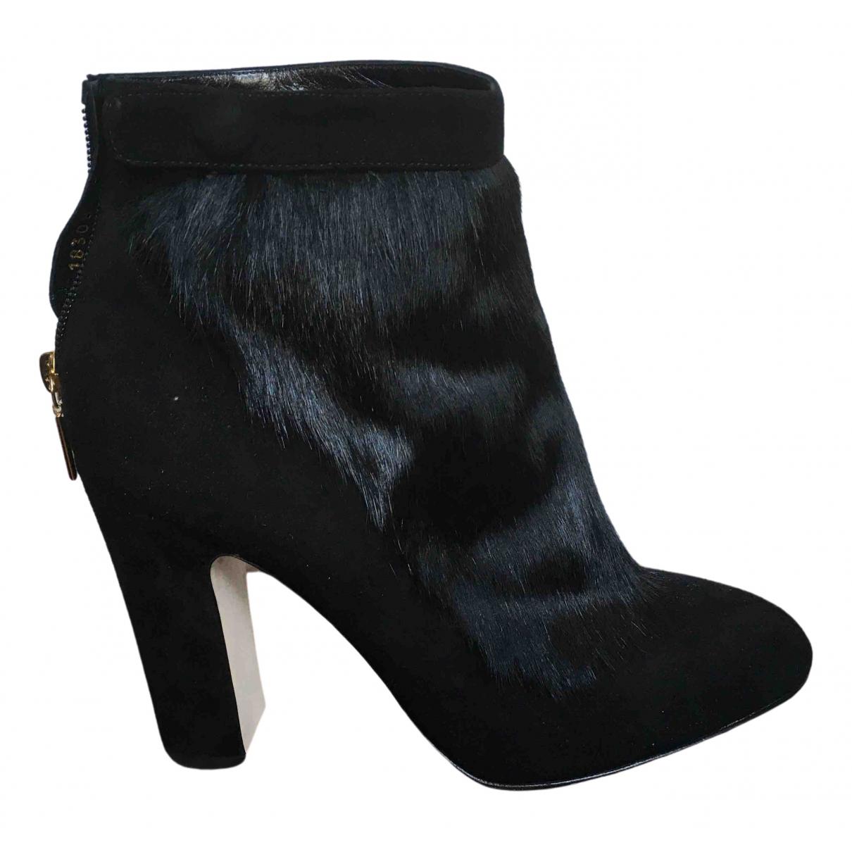 Dolce & Gabbana \N Black Pony-style calfskin Ankle boots for Women 39 EU