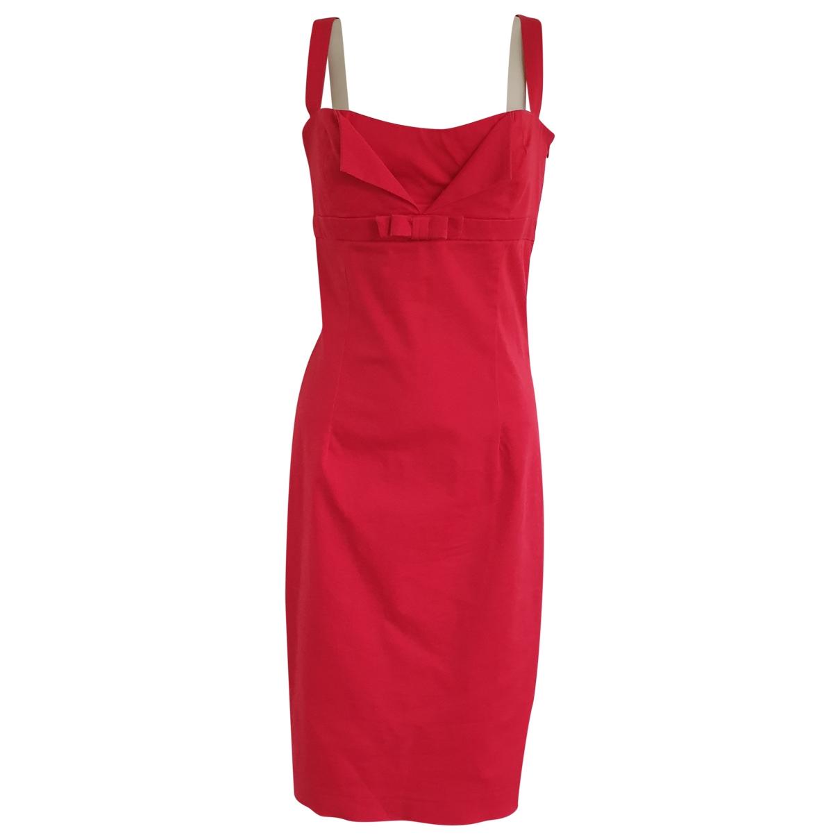 Tara Jarmon \N Red Cotton - elasthane dress for Women 42 FR