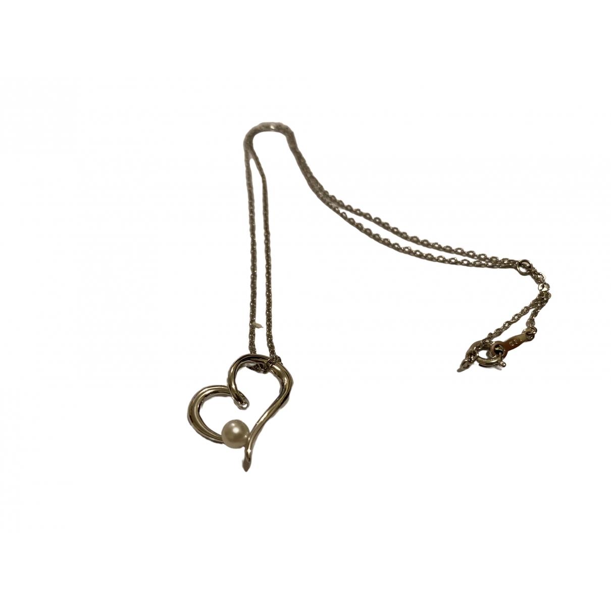 Mikimoto - Collier   pour femme en metal - argente
