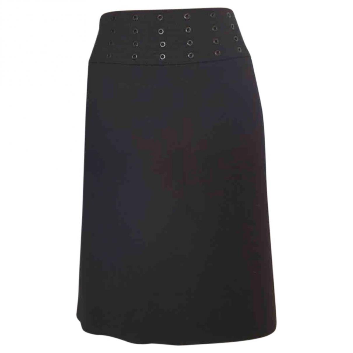 Emilio Pucci \N Black Wool skirt for Women 44 IT