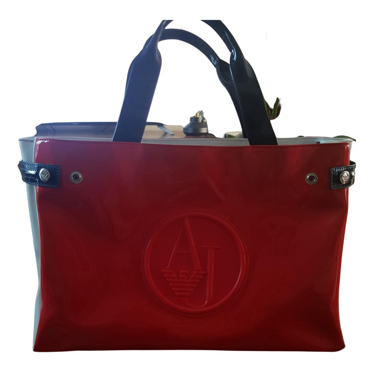 Armani Jeans \N Handtasche in  Rot Kunststoff